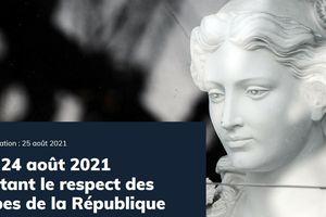 LOI n° 2021-1109 du 24 août 2021 confortant le respect des principes de la République
