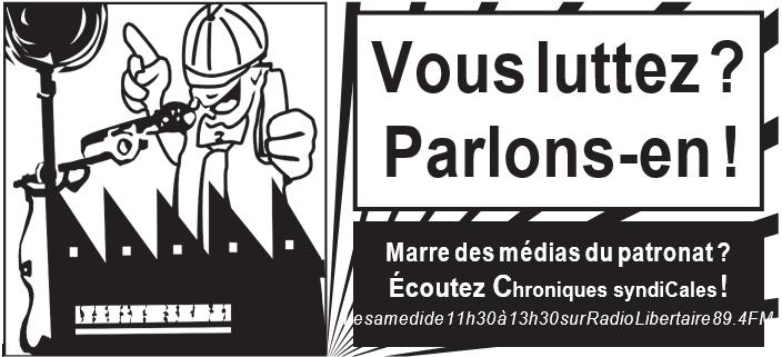 programme du 19 juin des chroniques syndicales
