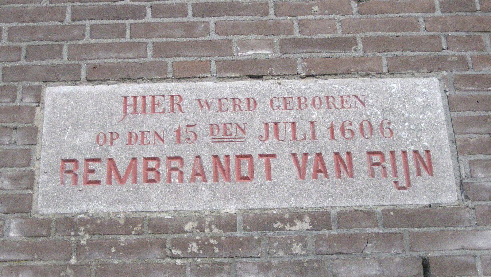 Emilie-Lise à Leiden avec Rembrandt