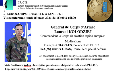 VISIO 15 MARS : « EUROCORPS : DUALITE OTAN - UE »