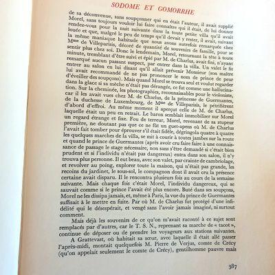 Proust et l'anacoluthe.