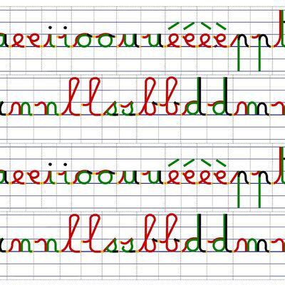 L'écriture de mots : Petite interface entre la segmentation phonologique et la calligraphie cursive