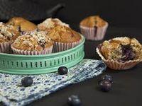 """Recette pour 4 personnes  / """"Muffins à la cannelle et au citron"""" - Prépa 15 mn, cuisson 20-25 mn, repos de la pâte 1 h"""