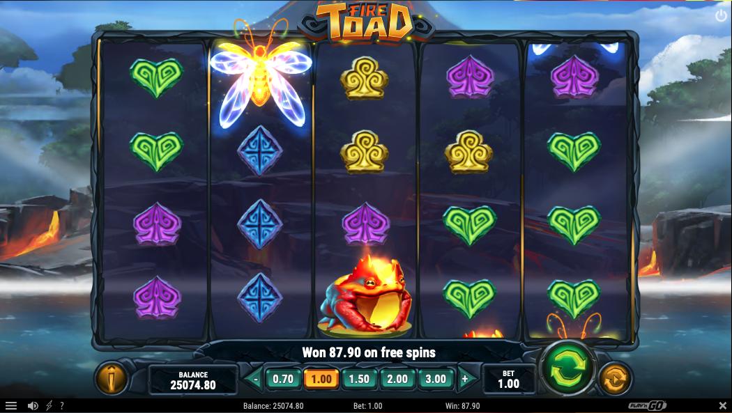 machine à sous en ligne Fire Toad tours gratuits