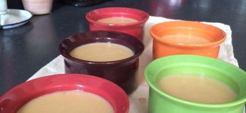 Petits pots de crème vanille au lait de noisette