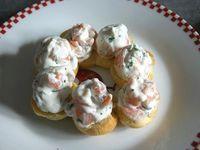 Paris Brest saumon, crevettes et citron