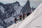 Alpinistes de l'Aiguille du Midi