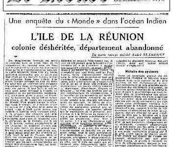 La départementalisation de la Réunion : l'émergence d'un consensus ? (cinéma-3ème)