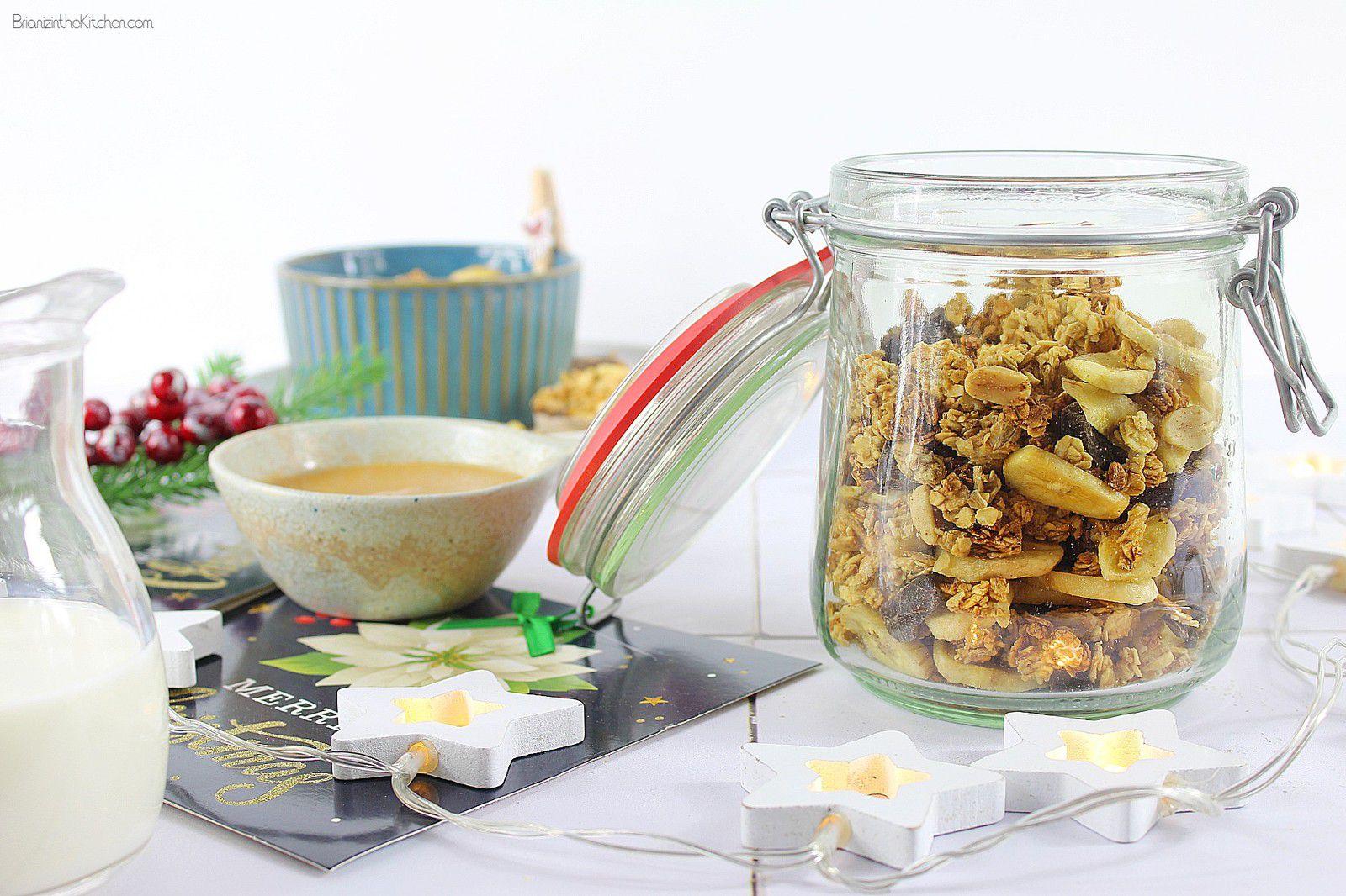 Granola Beurre de Cacahuète, Chips de Banane et Chocolat