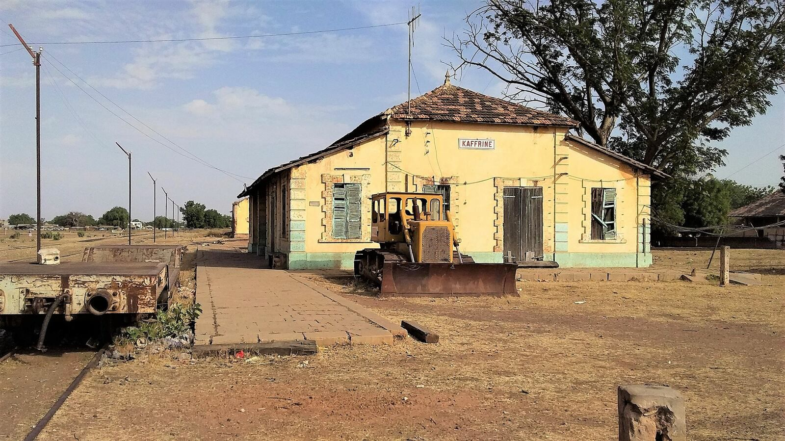 Gare de Kaffrine sur le rail Dakar - Koulikoro