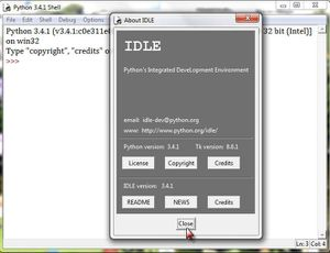 Python: Atelier 2. Version de IDLE