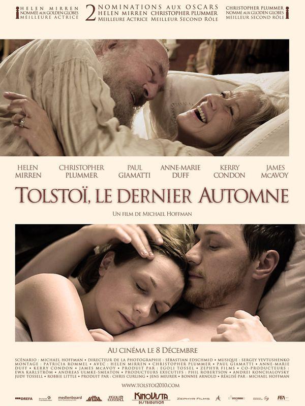 Tolstoi, le dernier automne (2009) avec Christopher Plummer, Helen Mirren, Paul Giamatti, James McAvoy (The Last Station)