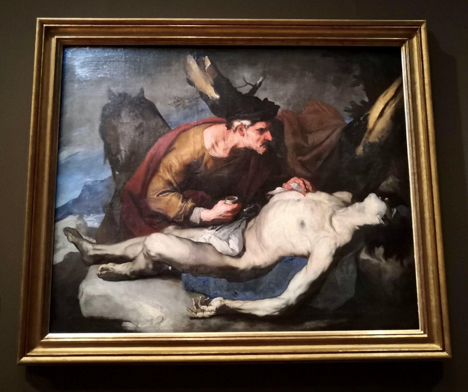 Luca Giordano, le bon Samaritain, 1660, Huile sur toile, Rouen, Musée des Beaux-Arts