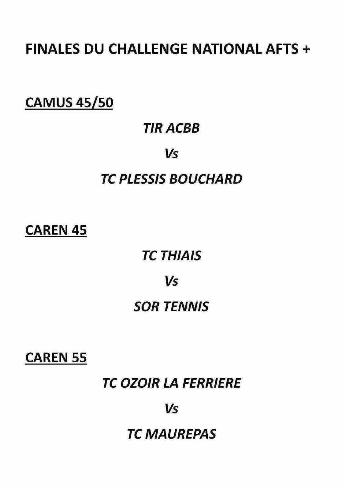 Challenges Caren Camus 45/50/55