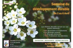 Agenda : semaine du développement durable et tennis de table...