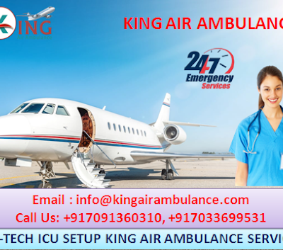 King Air Ambulance Services in Ranchi is Available with Modern Medical Equipment
