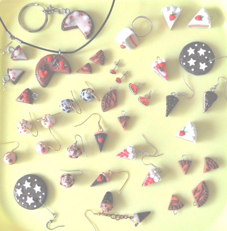 ecco le creazioni in fimo! Orecchini, portachiavi, ciondoli, portafoto ...e chi più ne ha più ne metta!