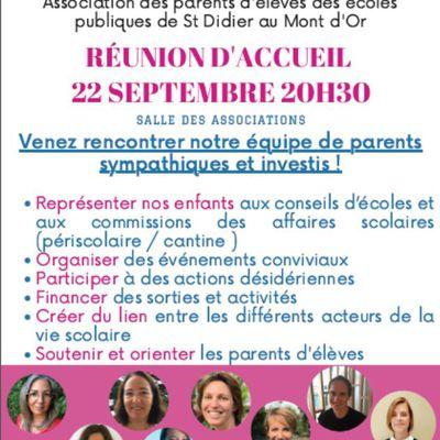 Réunion d'accueil 22 septembre (20h30)