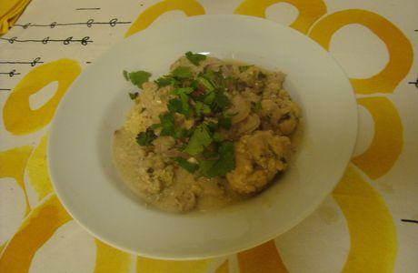Boulettes de veau sauce Poulette