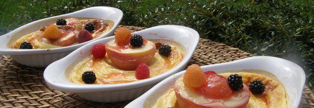 Clafoutis revisités Brugnons Fruits rouges du jardin *Vous allez vous régaler*