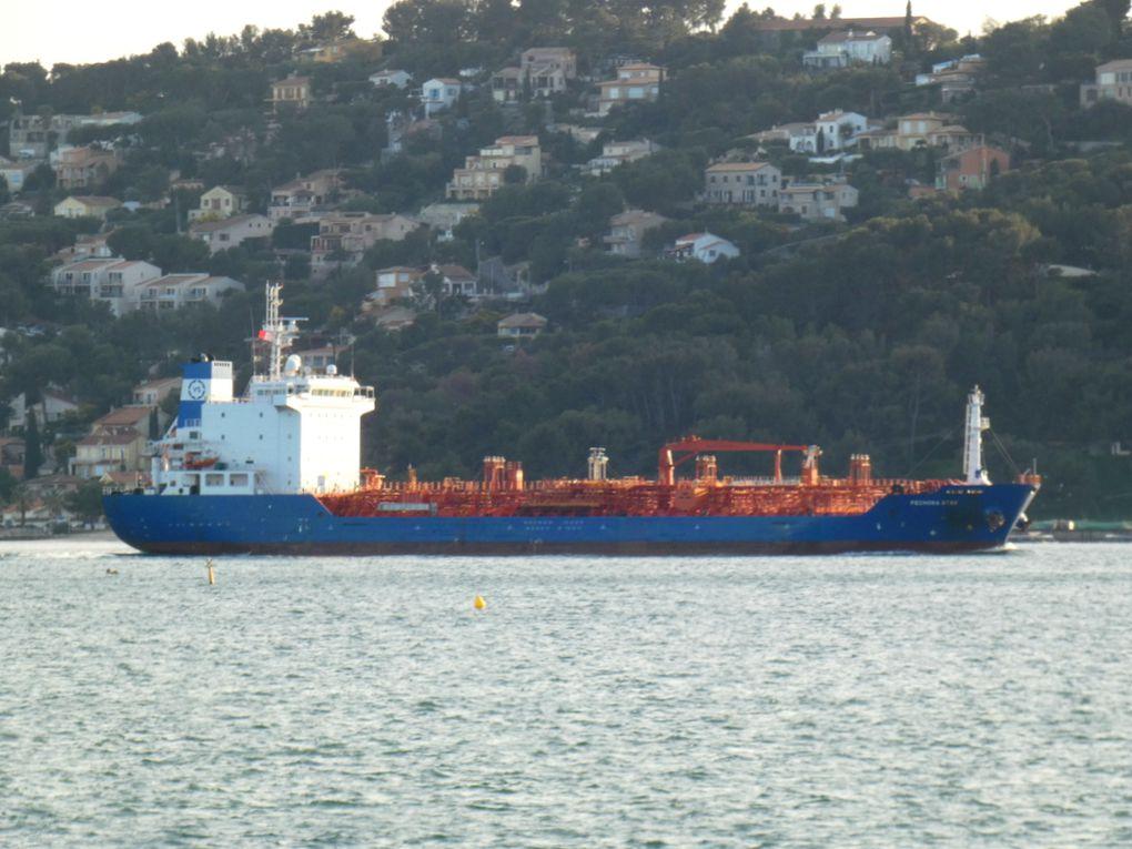 PECHORA STAR , arrivant au port de Toulon le 12 février 2020