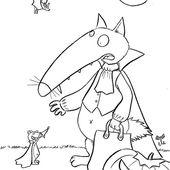 10 coloriages du Loup #4 [Coloriage][Activité][Loup][MS][GS][CP][Élémentaire] - Le Bazar du Lion