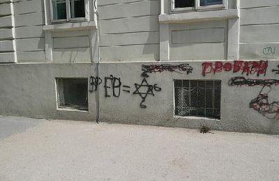 Serbie – Graffiti antisémite à Vrsac