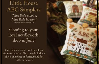 La colecciones de Little House Needleworks y Country Cottage Needleworks