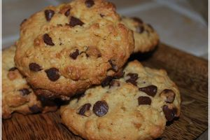 Cookies Flocons D'avoine et Chocolat