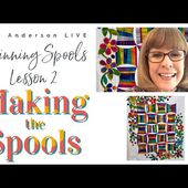 Alex Anderson LIVE - Spinning Spools Quilt - Making the Spools