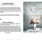 """Sacs à album """"Le bonhomme et l'oiseau"""" et """"Le meilleur livre pour apprendre à dessiner une vache"""" chez Cath Cathie"""