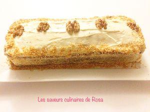 Carrot cake  (cake à la carotte)