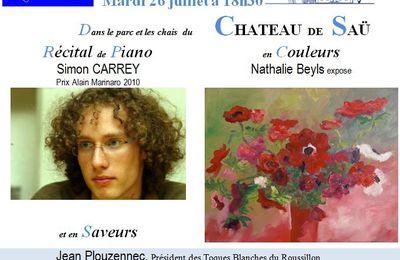 Mar 26 juillet - Récital de Piano, en Couleurs et en Saveurs