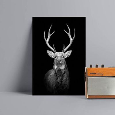 Deer painting animal wall art Canvas