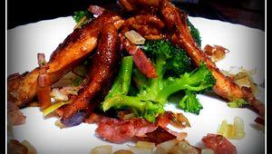 Pollo macerado a la plancha con verduras al vapor
