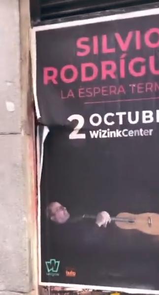 Cartel anunciando concierto de Silvio Rodríguez