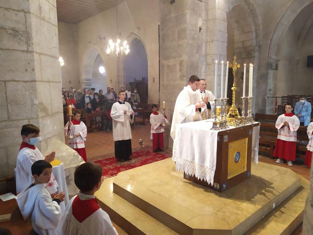 Premiere messe à Villars de l'abbé Romain Ghandour