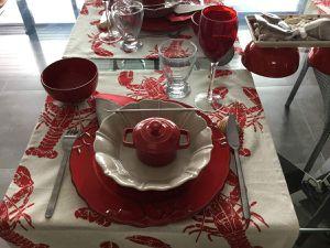 Déco table, coquillages et crustacées