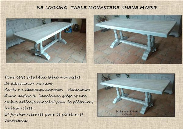 PATINE TABLE MONASTERE