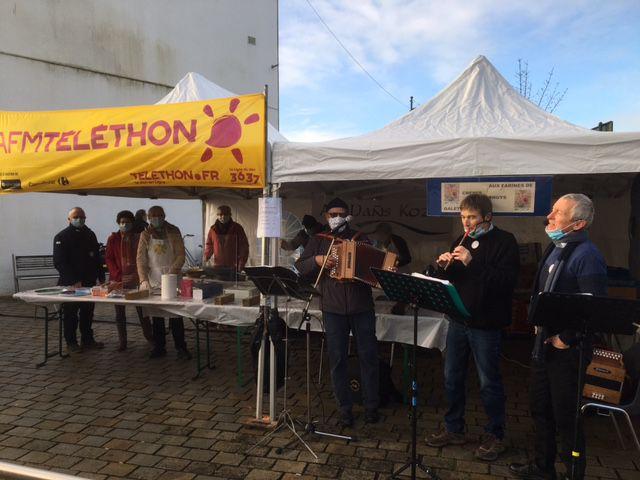 Téléthon 2020  sur la commune de Sarzeau -  article et photo