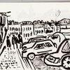 L'automobile et la ville, Croquis