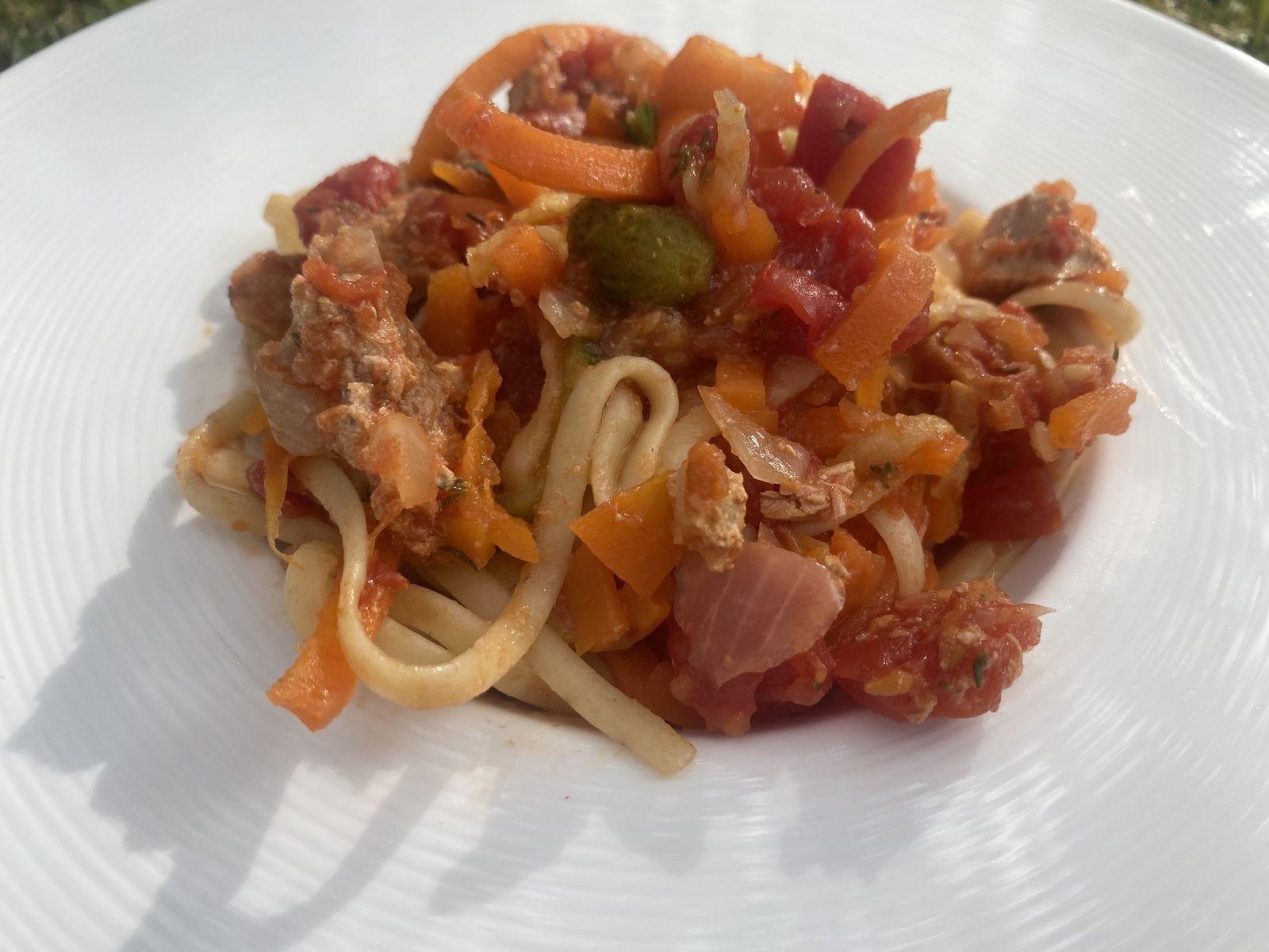 Spaghettis au thon comme une bolognaise 7💚💙💜