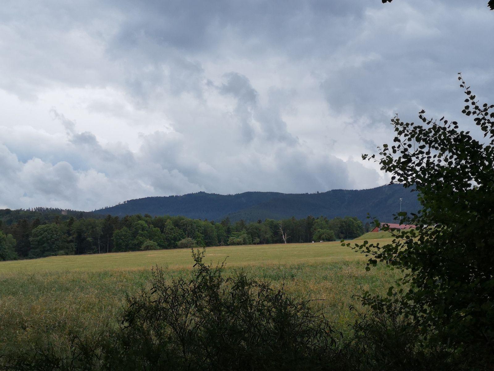 Voilà une silhouette qui m'est plus que familière!!! Le massif du Schneeberg.