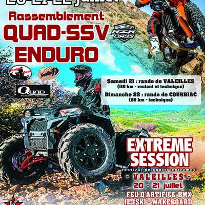 Rando motos, quads et SSV (Valeilles 82 et Courbiac 47), le 21 et 22 juillet 2018