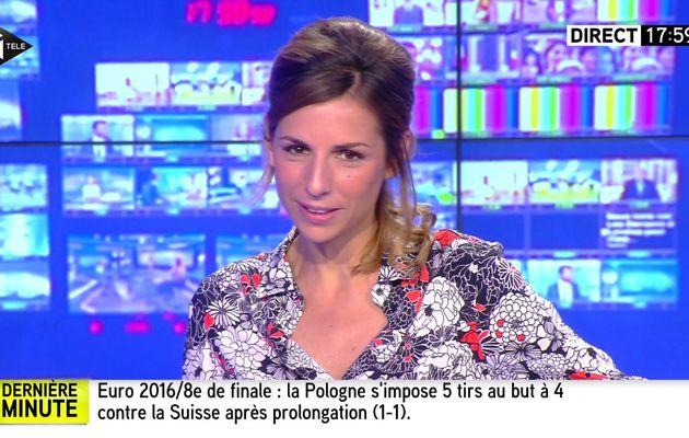 ALICE DARFEUILLE pour INTEGRALE WEEK-END le 2016 06 25 sur i>tele