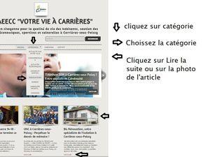 """Mode d'emploi du Blog de l'ASAEECC """"Votre vie à Carrières"""""""