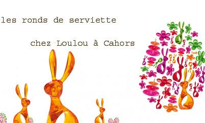 les nouveautés côté DéCO chez Loulou à Cahors : ronds de serviettes, lunchbox ...