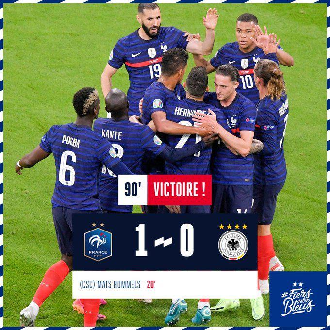 Euro 2020 - en images : lL'équipe de France, championne du monde en titre, a fait chuter les Allemands, mardi soir à Munich (1-0). Les Bleus prennent un départ idéal à l'Euro dans ce groupe F terriblement relevé.