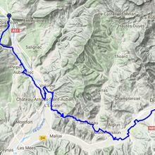 7 septembre étape 12 de Sisteron à Dignes 58 km