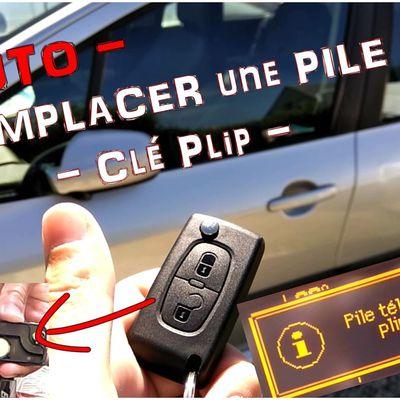 TUTO clé de voiture - Remplacement PILE au LITHIUM - Vidéo en ligne